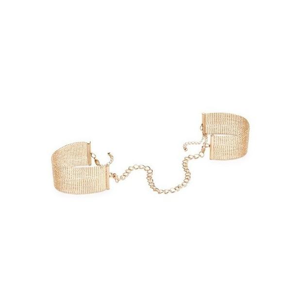 Los Placeres de Lola The Magnifique - esposas de cadena metálicas de Bijoux Indiscrets