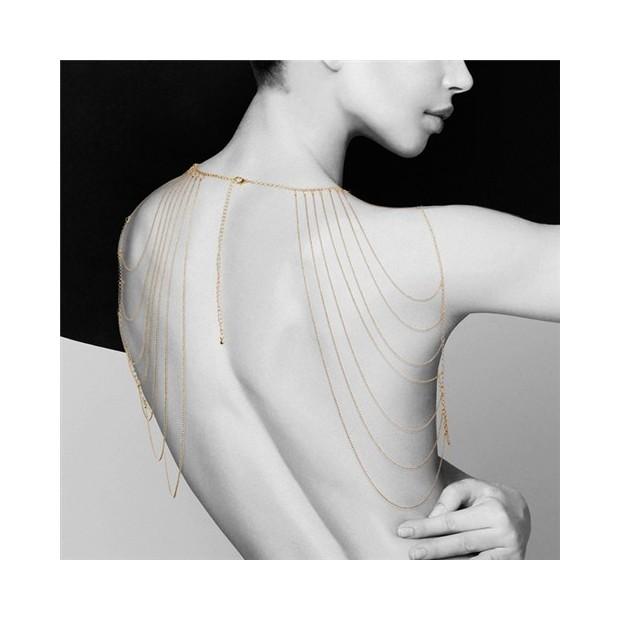 Los Placeres de Lola The Magnifique metalic chain shoulders and back jwely Bijoux Indiscrets
