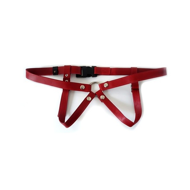Los placeres de Lola narrow leather harness by Lulu Lafem